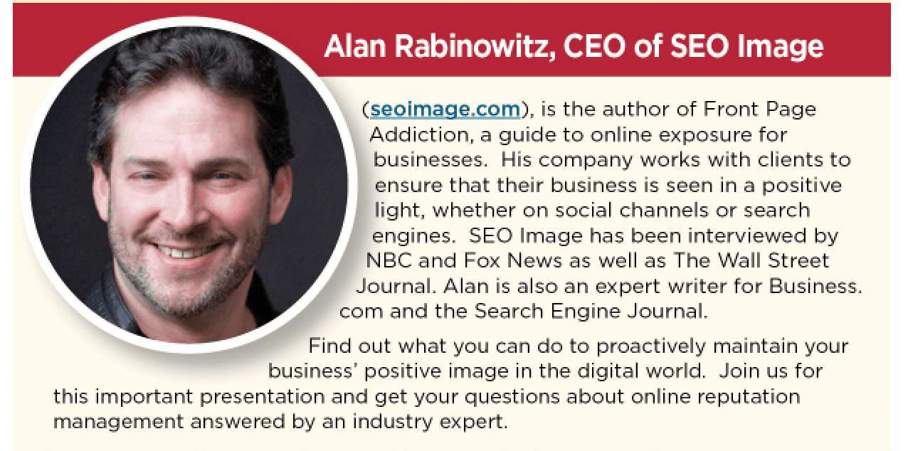 Alan Rabinowitz speaking for SEO Image on the BBB Reputation Management Webinar
