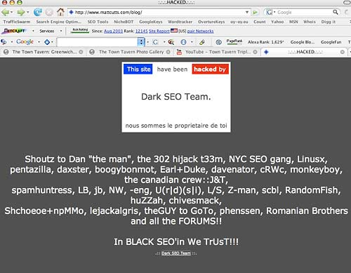 Google's Webspam Leader - Hacked